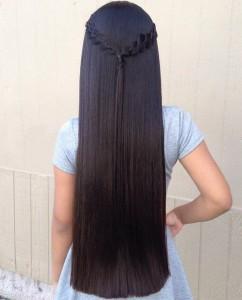 Волосы сзади прямые