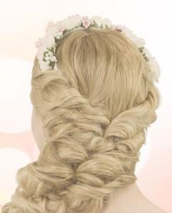 Прическа для длинных густых волос