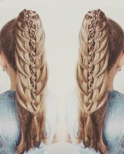 Оригинальная прическа на длинные волосы