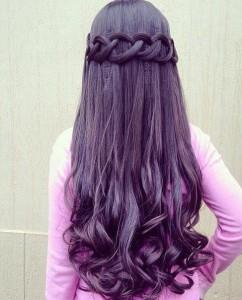 Несложная укладка на длинные волосы