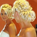 Свадебная прическа для блондинок