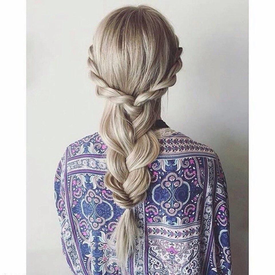 Прически с плетением